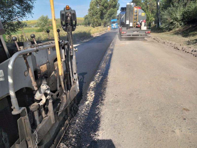 Ремонт дороги на Рогатинщині